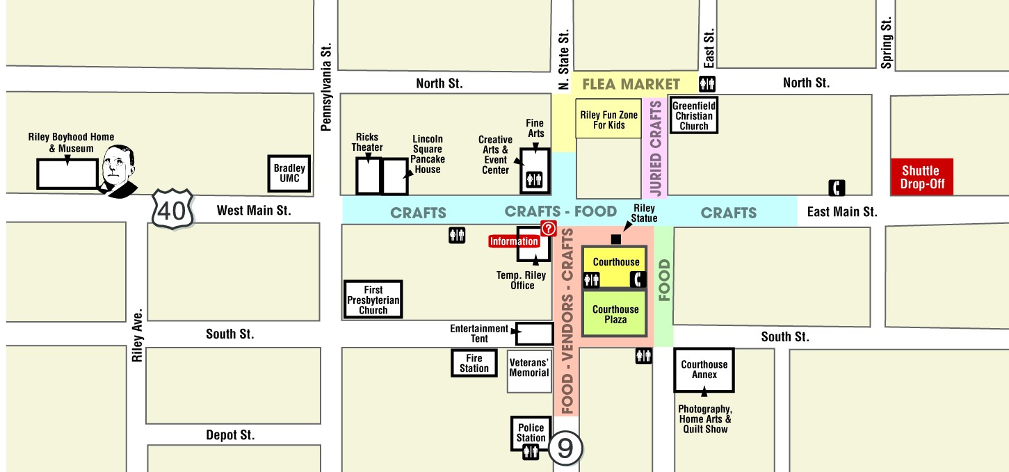 Riley Festival Layout Map